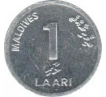 Мальдивы 1 лари 1984-2012