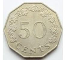 Мальта 50 центов 1972-1981