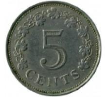 Мальта 5 центов 1972-1981