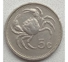 Мальта 5 центов 1986