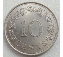 Мальта 10 центов 1972-1981