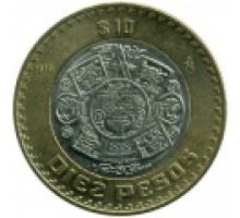 Мексика 10 песо 1997-2017