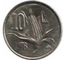 Мексика 10 сентаво 1974-1980