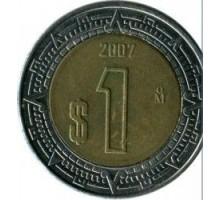 Мексика 1 песо 1996-2018