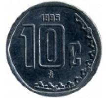Мексика 10 сентаво 1992-2009