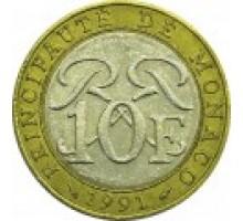 Монако 10 франков 1989-2000