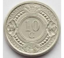 Нидерландские Антильские острова 10 центов 1989-2016
