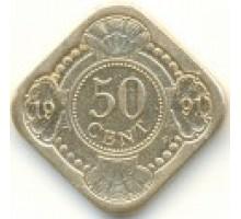 Нидерландские Антильские острова 50 центов 1989-2016