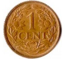 Нидерландские Антильские острова 1 цент 1952-1970