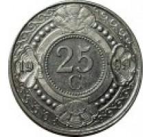 Нидерландские Антильские острова 25 центов 1989-2014
