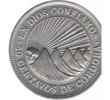 Никарагуа 50 сентаво 1939-1956