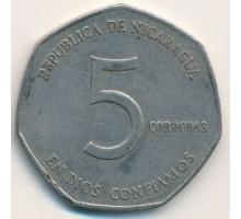Никарагуа 5 кордоб 1980