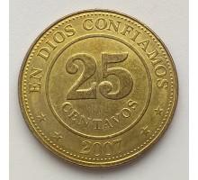 Никарагуа 25 сентаво 2002-2014