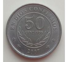 Никарагуа 50 сентаво 2007-2014