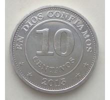 Никарагуа 10 сентаво 2007-2015