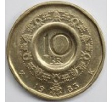 Норвегия 10 крон 1983-1991
