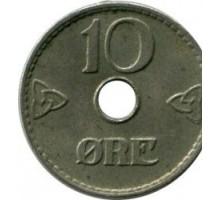 Норвегия 10 эре 1949