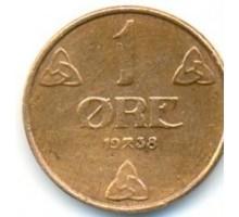 Норвегия 1 эре 1938