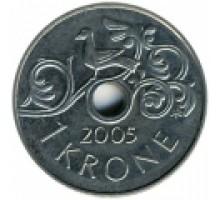 Норвегия 1 крона 1997-2016