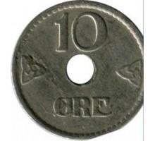 Норвегия 10 эре 1947