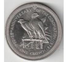 Остров Мэн 1 крона 1978. 25 лет коронации Королевы Елизаветы II