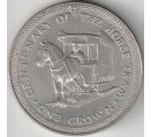 Остров Мэн 1 крона 1976. 100 лет Конной железной дороге