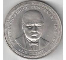 Остров Мэн 1 крона 1974. 100 лет со дня рождения Уинстона Черчилля