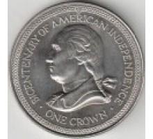 Остров Мэн 1 крона 1976. 200 лет независимости Америки
