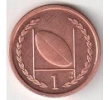 Остров Мэн 1 пенни 1996-1998