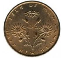 Остров Мэн 1/2 нового пенни 1971-1975