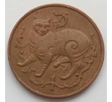 Остров Мэн 1 пенни 1980-1983