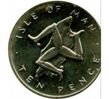 Остров Мэн 10 пенсов 1976-1979