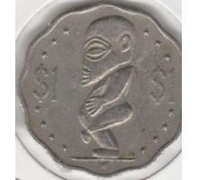 Острова Кука 1 доллар 1987-1994