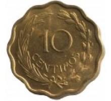 Парагвай 10 сентимо 1953