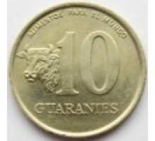 Парагвай 10 гуарани 1990