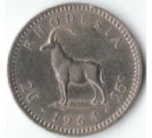 Родезия 25 центов 2 1/2 шиллинга 1964