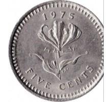 Родезия 5 центов 1975-1977