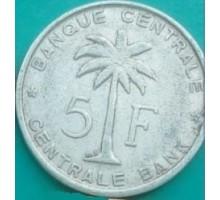 Руанда-Урунди 5 франков 1958