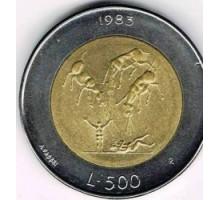 Сан-Марино 500 лир 1983. Ядерная угроза
