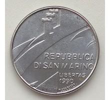Сан-Марино 100 лир 1990. Шестнадцать веков истории