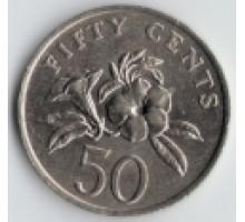 Сингапур 50 центов 1985-1988