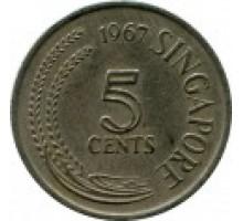 Сингапур 5 центов 1967-1985
