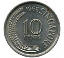 Сингапур 10 центов 1967-1984