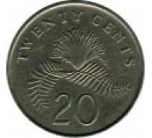 Сингапур 20 центов 1985-1991