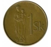 Словакия 1 крона 1993-2008