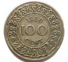 Суринам 100 центов 1987-2014