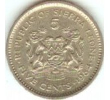 Сьерра-Леоне 5 центов 1980-1984