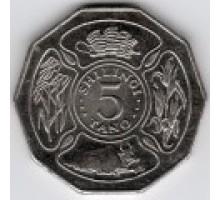 Танзания 5 шиллингов 1990-1993