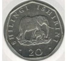 Танзания 20 шиллингов 1990-1992