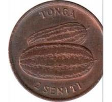 Тонга 2 сенити 1975